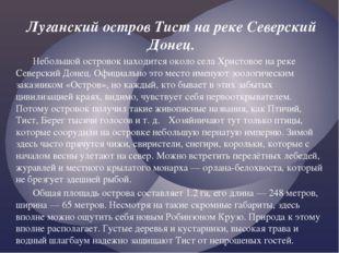 Луганский остров Тист на реке Северский Донец. Небольшой островок находится
