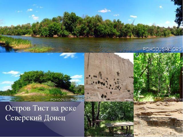 Остров Тист на реке Северский Донец