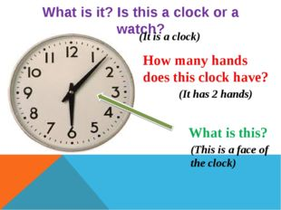 What is it? Is this a clock or a watch? How many hands does this clock have?