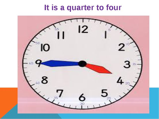 It is a quarter to four
