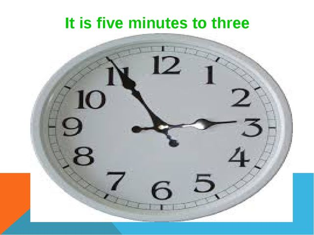 It is five minutes to three