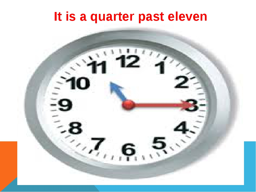 It is a quarter past eleven