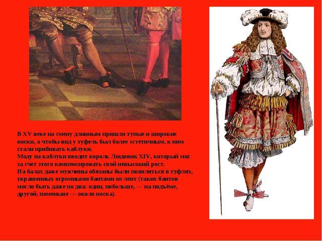 В XV веке на смену длинным пришли тупые и широкие носки, а чтобы вид у туфель...