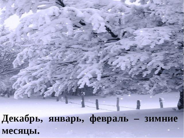 Декабрь, январь, февраль – зимние месяцы.