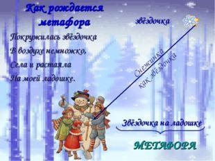 Как рождается метафора звёздочка Снежинка как звёздочка Звёздочка на ладошке