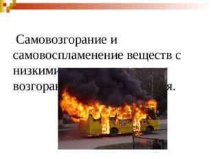 Самовозгорание и самовоспламенение веществ с низкими температурами возгорани