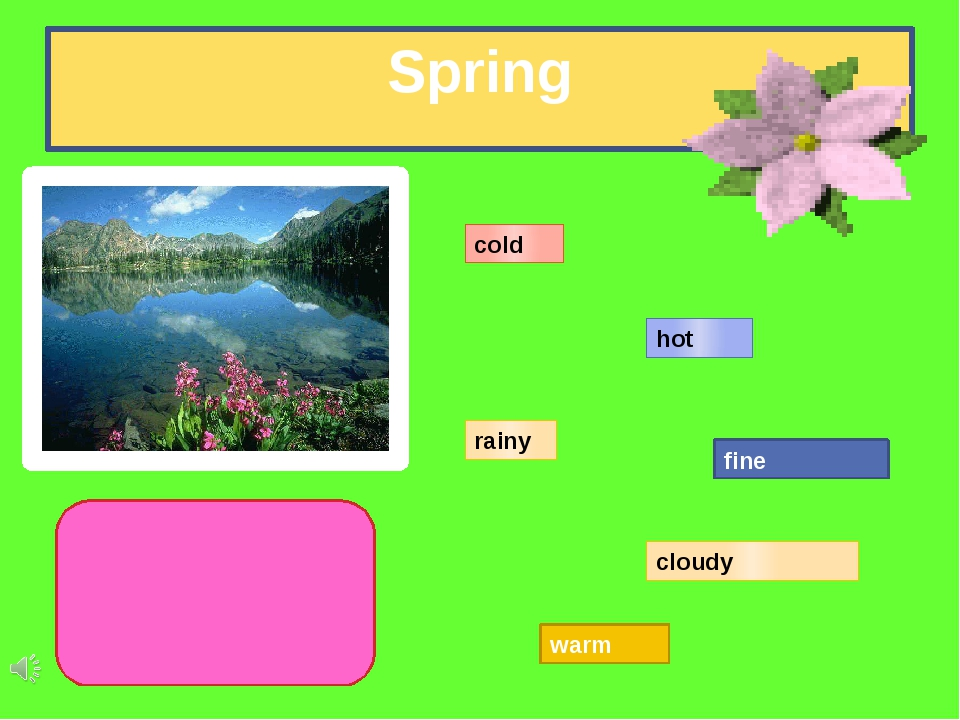 Spring cold hot rainy cloudy fine warm