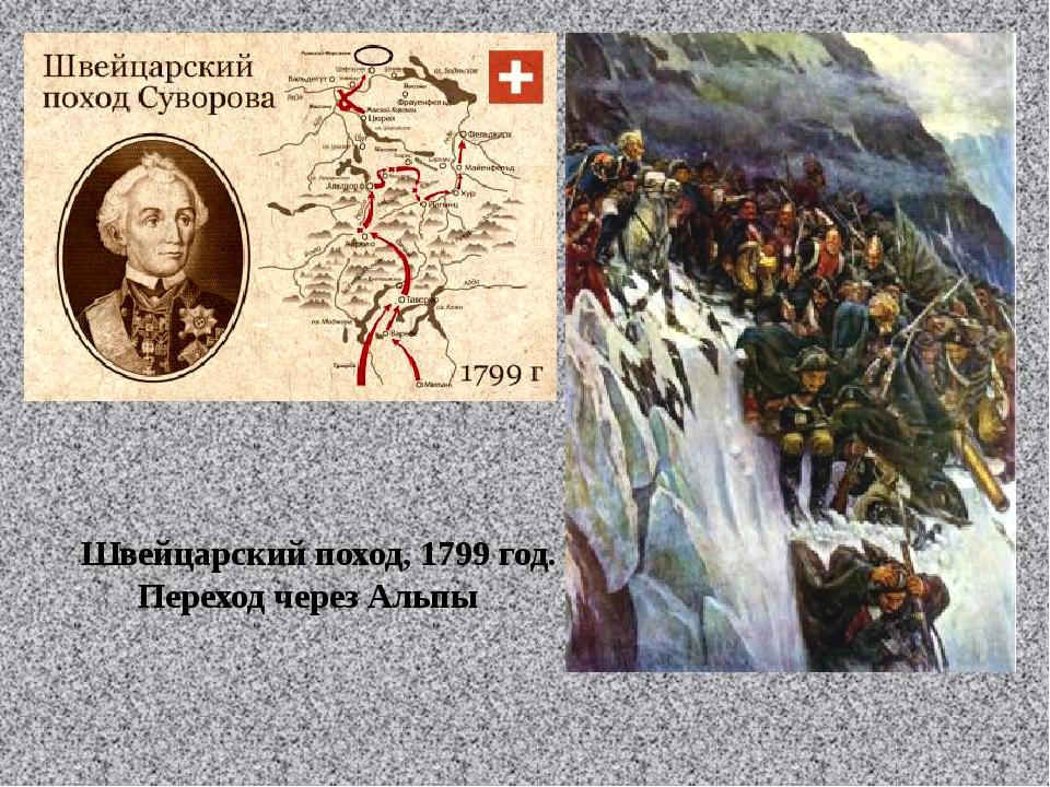 Швейцарский поход, 1799 год. Переход через Альпы