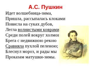 А.С. Пушкин Идет волшебница-зима, Пришла, рассыпалась клоками Повисла на сука