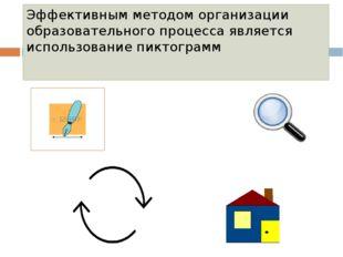 Эффективным методом организации образовательного процесса является использова