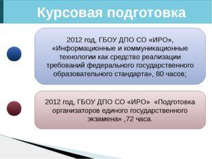 Курсовая подготовка 2012 год, ГБОУ ДПО СО «ИРО», «Информационные и коммуникац
