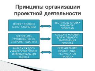 Принципы организации проектной деятельности ОБЕСПЕЧИТЬ РУКОВОДСТВО СО СТОРОН