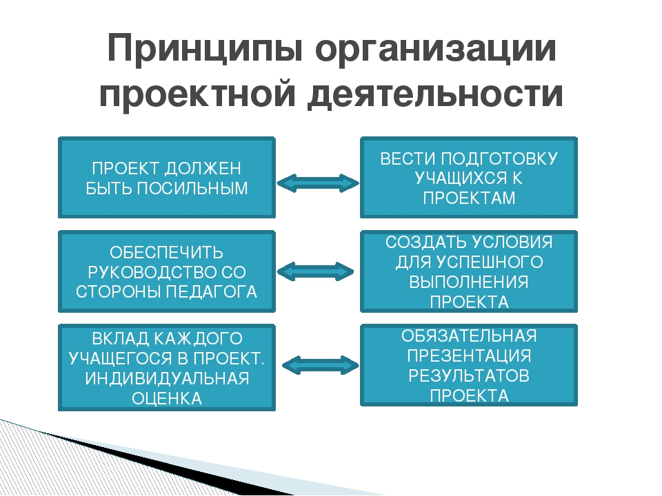 Принципы организации проектной деятельности ОБЕСПЕЧИТЬ РУКОВОДСТВО СО СТОРОН...
