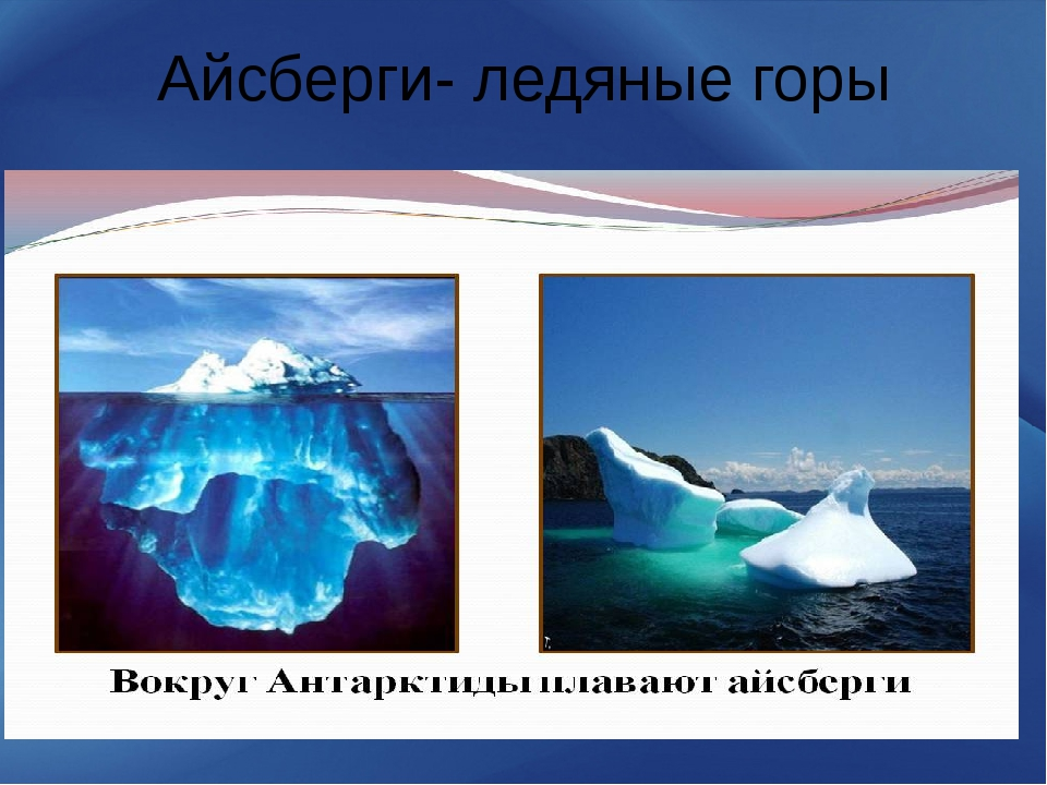 Айсберги- ледяные горы