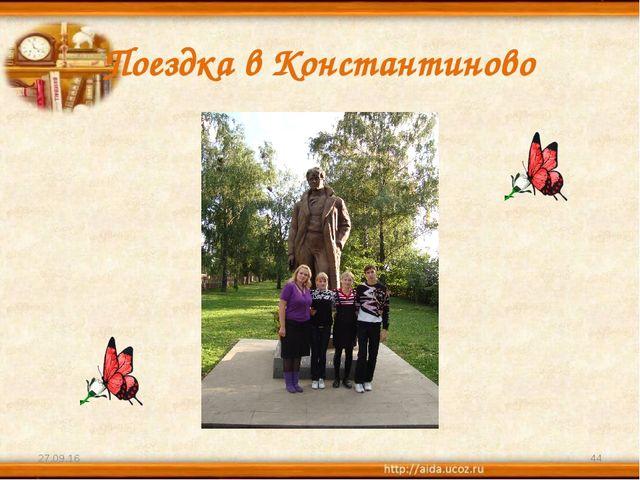Поездка в Константиново * *