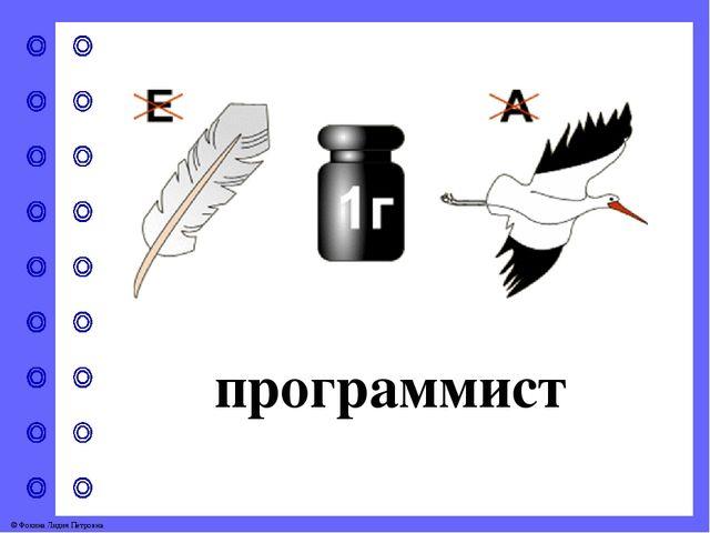 программист © Фокина Лидия Петровна