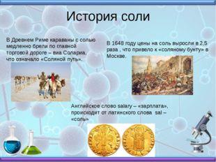 История соли В Древнем Риме караваны с солью медленно брели по главной торгов