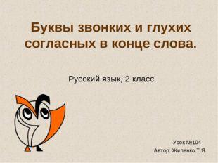 Буквы звонких и глухих согласных в конце слова. Русский язык, 2 класс Урок №1
