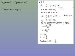 Задание 21. Пример №3 Оценка эксперта:
