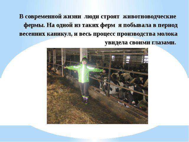 В современной жизни люди строят животноводческие фермы. На одной из таких фер...