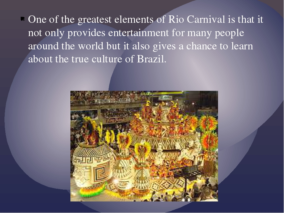 One of the greatest elements of Rio Carnival is that it not only provides ent...