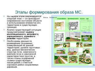 Этапы формирования образа МС. На первом этапе анализируется опорный план — он