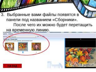 3. Выбранные вами файлы появятся в панели под названием «Сборники». После чег