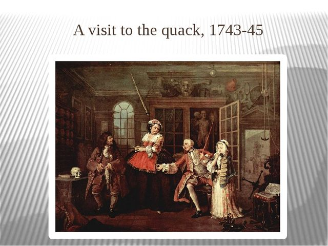 A visit to the quack, 1743-45