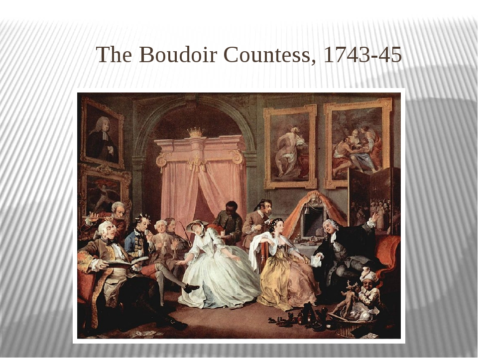 The Boudoir Countess, 1743-45