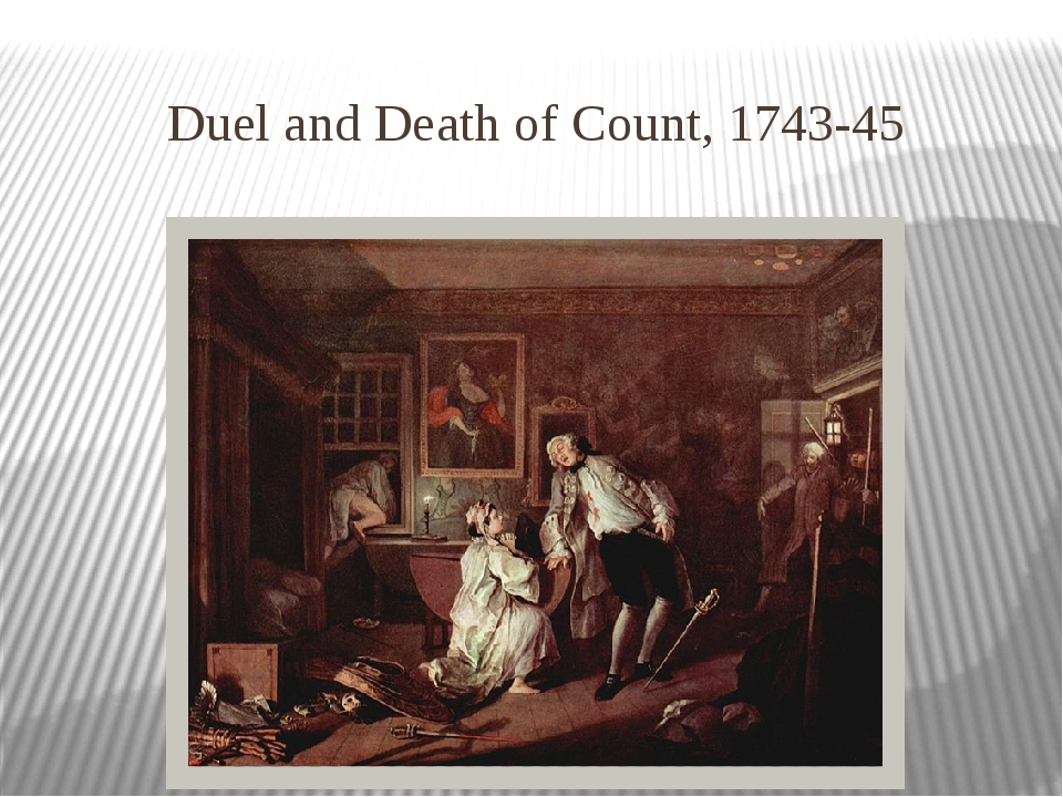 Duel and Death of Count, 1743-45