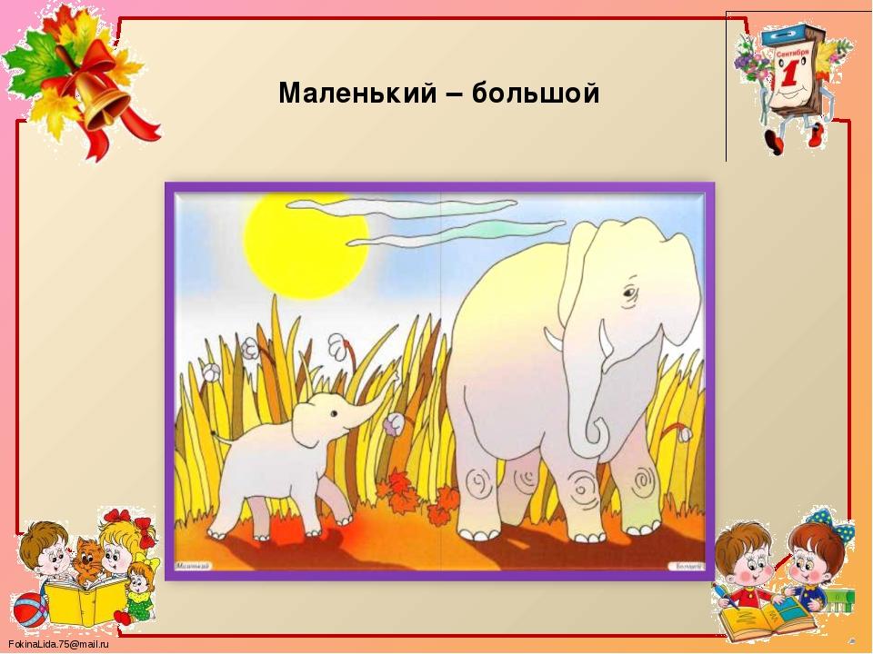 Маленький – большой FokinaLida.75@mail.ru