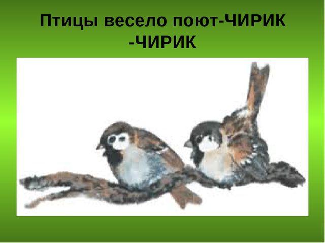 Птицы весело поют-ЧИРИК -ЧИРИК