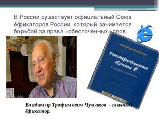 В России существует официальный Союз ёфикаторов России, который занимается бо