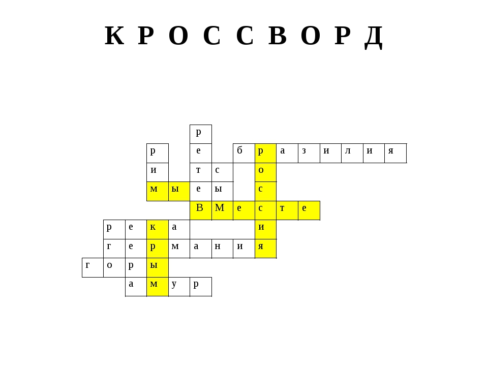 К Р О С С В О Р Д