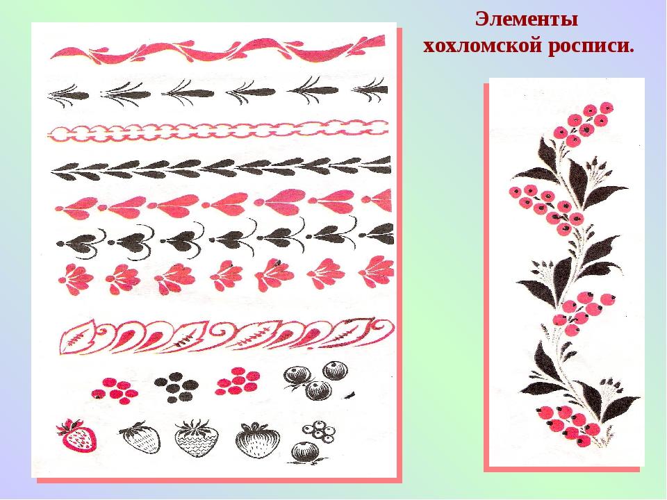 Хохлома и ее элементы росписи
