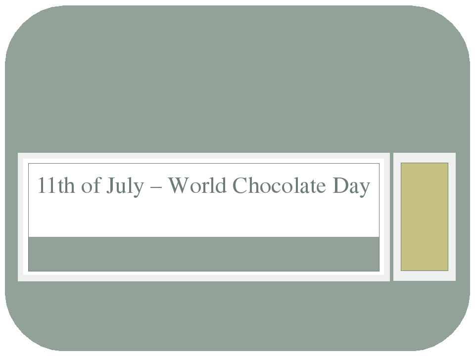 11th of July – World Chocolate Day