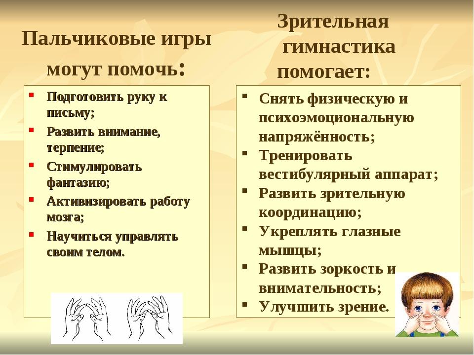 Пальчиковые игры могут помочь: Подготовить руку к письму; Развить внимание,...