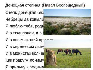 Донецкая степная (Павел Беспощадный) Степь донецкая без края, Чебрецы да ковы