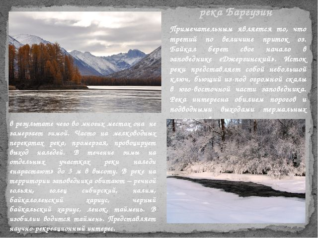 Примечательным является то, что третий по величине приток оз. Байкал берет св...