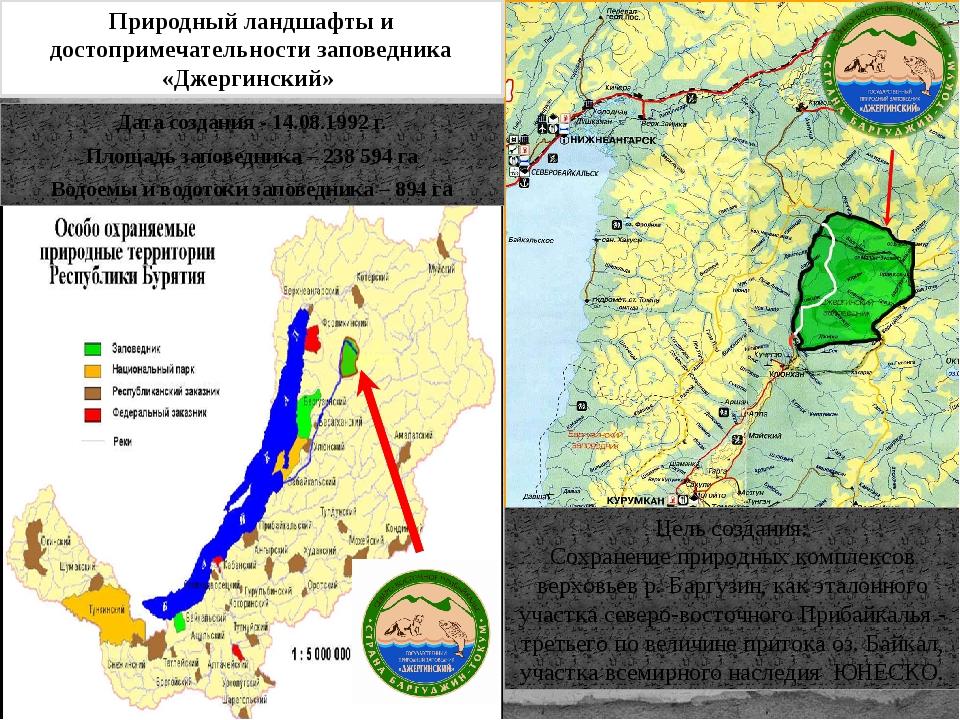 Дата создания - 14.08.1992 г. Площадь заповедника – 238 594 га Водоемы и вод...