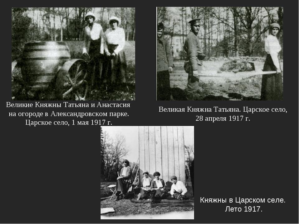 Княжны в Царском селе. Лето 1917. Великая Княжна Татьяна. Царское село, 28 ап...