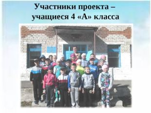 Участники проекта – учащиеся 4 «А» класса