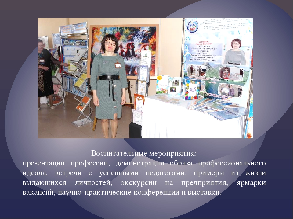 Воспитательные мероприятия: презентации профессии, демонстрация образа профес...