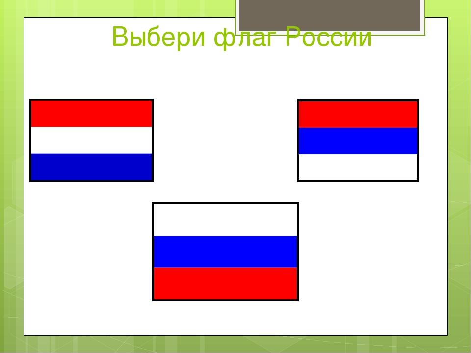 Выбери флаг России