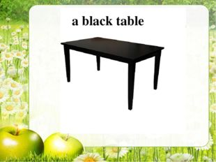 a black table