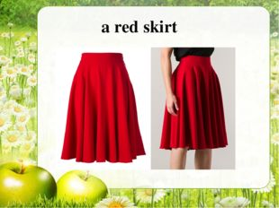 a red skirt