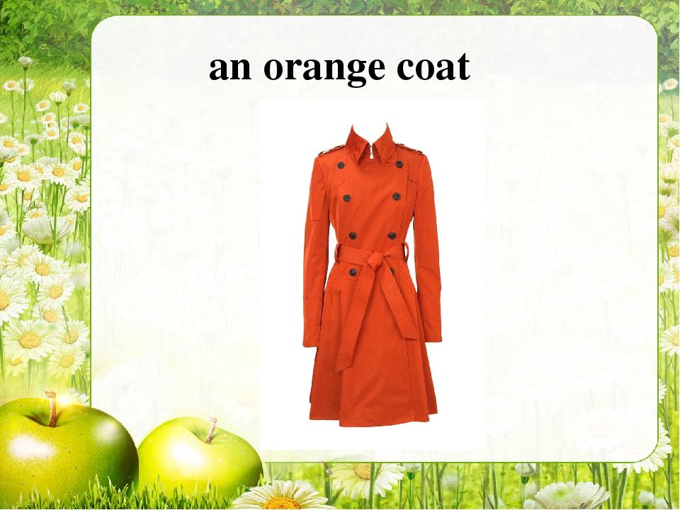 an orange coat