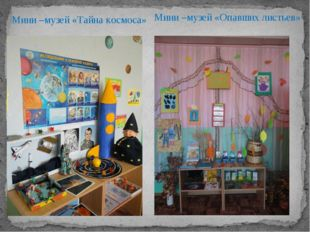 Мини –музей «Тайна космоса» Мини –музей «Опавших листьев»