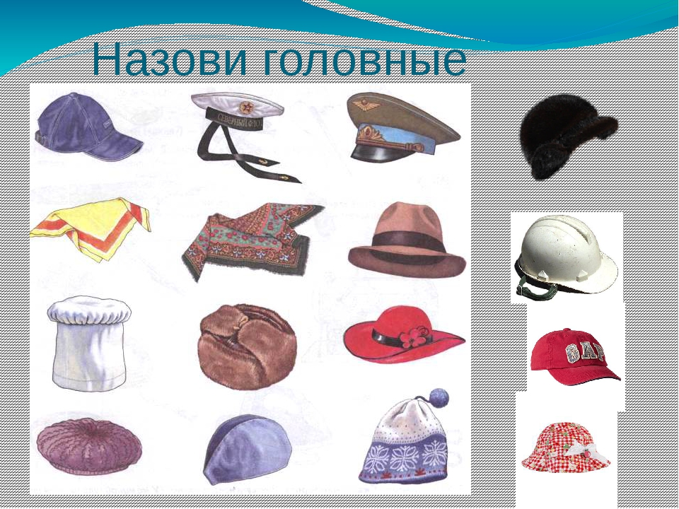 Картинки одежды и обуви и головных уборов
