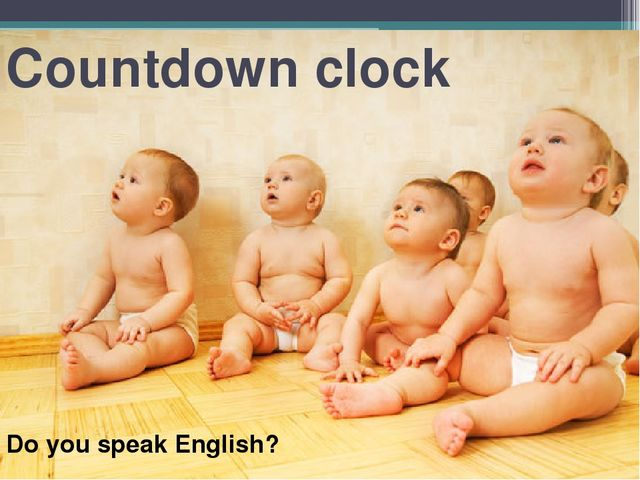 Countdown clock Do you speak English?